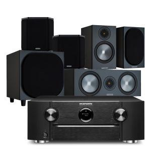 Marantz SR6015 9.2ch 8K AV Amplifier with Monitor Audio Bronze 50 AV Speaker Pack