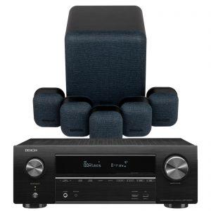 Denon AVR-X1600H DAB AV Receiver with Monitor Audio Mass 5.1 Gen 2 AV Speaker System
