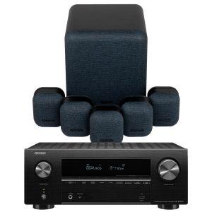 Denon AVR-X2700H AV Receiver with Monitor Audio Mass 5.1 Gen 2 AV Speaker System