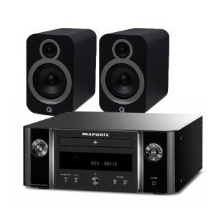 Marantz Melody M-CR412 Music System with Q Acoustics 3030i Bookshelf Speakers