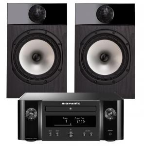 Marantz Melody X. M-CR612 Music System with Fyne Audio F301 Bookshelf Speakers