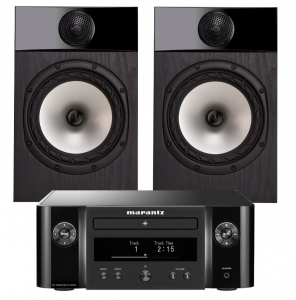 Marantz Melody M-CR412 Music System with Fyne Audio F301 Bookshelf Speakers