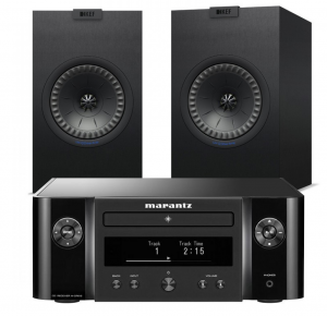 Marantz Melody X. M-CR612 Music System with KEF Q350 Bookshelf Speakers