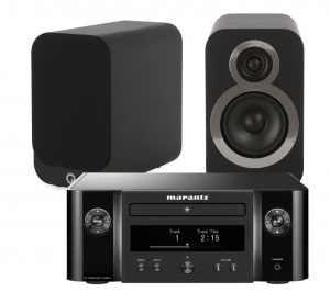 Marantz Melody X. M-CR612 Music System with Q Acoustics Q 3010i Bookshelf Speakers