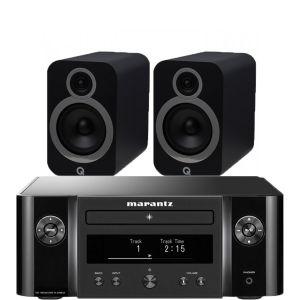 Marantz Melody X. M-CR612 Music System with Q Acoustics 3030i Bookshelf Speakers