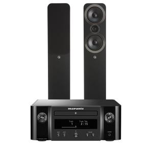 Marantz Melody M-CR412 Music System with Q Acoustics 3050i Floorstanding Speakers