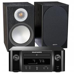 Marantz Melody X. M-CR612 Music System with Monitor Audio Silver 100 Bookshelf Speakers