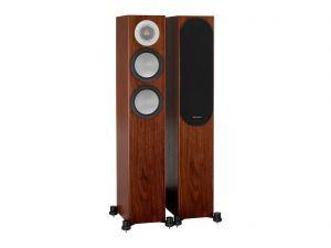 Open Box - Monitor Audio Silver 200 Floor Standing Speakers - Walnut