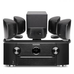 Marantz SR6015 9.2ch 8K AV Amplifier with Bowers & Wilkins MT-50 Home Theatre System