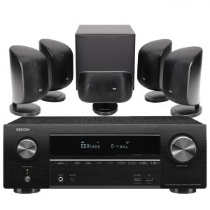 Denon AVR-X1600H DAB AV Receiver with Bowers & Wilkins MT-50 Home Theatre System