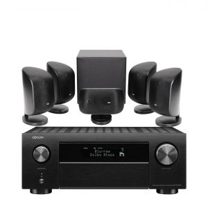 Denon AVC-X4700H AV Amplifier with Bowers & Wilkins MT-50 Home Theatre System