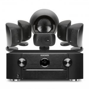 Marantz SR6015 9.2ch 8K AV Amplifier with Bowers & Wilkins MT-60D Home Theatre System