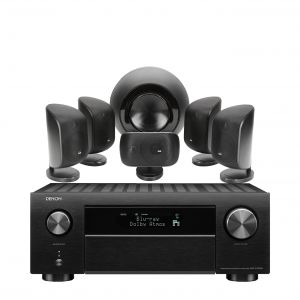 Denon AVC-X4700H AV Amplifier with Bowers & Wilkins MT-60D Home Theatre System