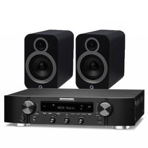 Marantz NR1200 Stereo Network Receiver with Q Acoustics 3030i Bookshelf Speakers
