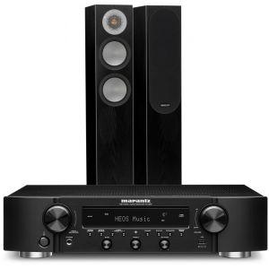 Marantz NR1200 Stereo Network Receiver with Monitor Audio Silver 200 Floorstanding Speakers