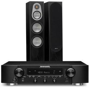Marantz NR1200 Stereo Network Receiver with Monitor Audio Silver 300 Floorstanding Speakers