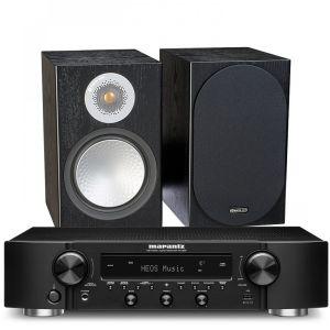 Marantz NR1200 Stereo Network Receiver with Monitor Audio Silver 50 Bookshelf Speakers