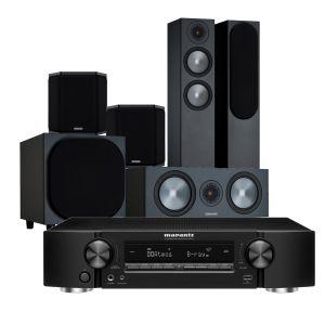 Marantz NR1711 Slim 7.2Ch 8K AV Receiver with Monitor Audio Bronze 200 AV Speaker Pack