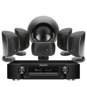 Marantz NR1711 Slim 7.2Ch 8K AV Receiver with Bowers & Wilkins MT-60D Home Theatre System