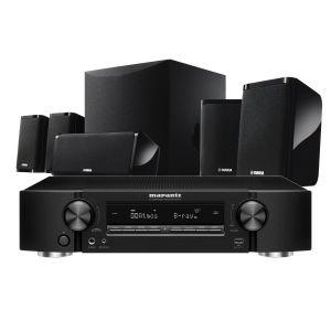Marantz NR1711 Slim 7.2Ch 8K AV Receiver with Yamaha NS-P41 5.1 Home Theatre Speaker Package
