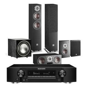 Marantz NR1711 Slim 7.2Ch 8K AV Receiver with Dali Oberon 5 AV Speaker System