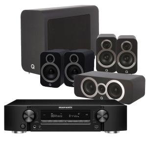 Marantz NR1711 Slim 7.2Ch 8K AV Receiver with Q Acoustics 3030i AV Speaker Pack