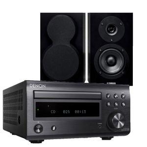 Denon D-M41DAB Hi-Fi System with Yamaha NS-BP150 Bookshelf Speakers