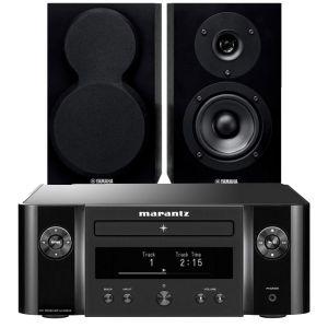 Marantz Melody X. M-CR612 Music System with Yamaha NS-BP150 Bookshelf Speakers