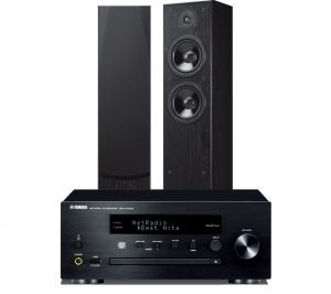 Yamaha CRX-N470D with Yamaha NS-F51 Floorstanding Speakers