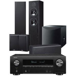 Denon AVR-X1600H DAB AV Receiver with Yamaha NS-F51 5.1 Speaker Pack