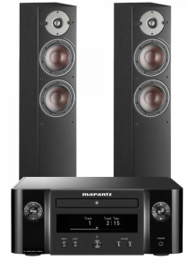 Marantz Melody X. M-CR612 Music System with Dali Oberon 5 Floorstanding Speakers