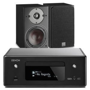 Denon CEOL N11DAB  Hi-Fi-Network CD Receiver with Dali Oberon 1 Bookshelf Speaker
