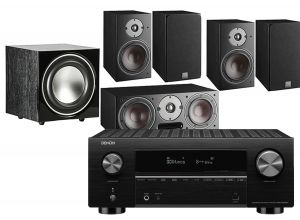 Denon AVC-X3700H Amplifier with Dali Oberon 1 AV Speaker System with E-9 Subwoofer
