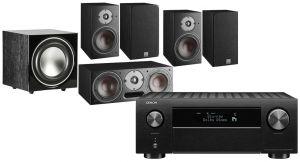 Denon AVC-X4700H AV Amplifier with Dali Oberon 1 AV Speaker System with E-9 Subwoofer