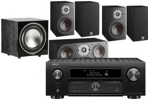Denon AVC-X6700H 11.2 AV Amplifier with Dali Oberon 1 AV Speaker System with E-9 Subwoofer
