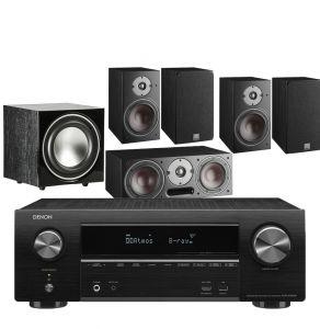 Denon AVR-X1600H DAB AV Receiver with Dali Oberon 1 AV Speaker System with E-9 Subwoofer
