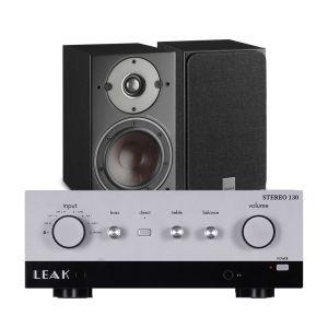 LEAK Stereo 130 Integrated Amplifier with Dali Oberon 3 Bookshelf Speakers