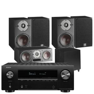Denon AVR-X2700H AV Receiver with Dali Oberon 3 AV Speaker System with C-8 D Sub