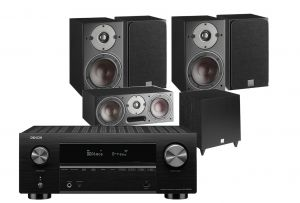 Denon AVC-X3700H Amplifier with Dali Oberon 3 AV Speaker System with C-8 D Sub