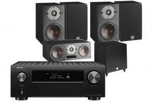 Denon AVC-X4700H AV Amplifier with Dali Oberon 3 AV Speaker System with C-8 D Sub