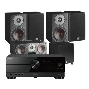 Yamaha RX-A2A AV Receiver with Dali Oberon 3 AV Speaker System with C-8 D Sub