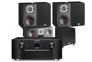 Marantz SR8015 11.2ch 8K AV Amplifier with Dali Oberon 3 AV Speaker System with C-8 D Sub