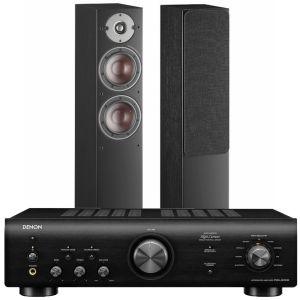 Denon PMA-600NE Integrated Amplifier with Dali Oberon 5 Floorstanding Speakers