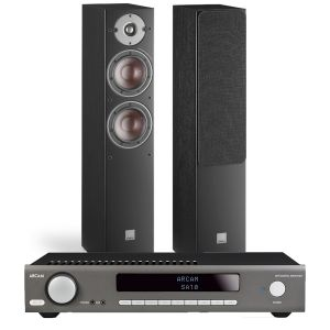 Arcam SA10 Integrated Amplifier with Dali Oberon 5 Floorstanding Speakers