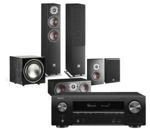Denon AVR-X1600H DAB AV Receiver with Dali Oberon 5 AV Speaker System