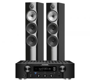 Marantz PM7000N Integrated Stereo Amplifier with Bowers & Wilkins 703 S2 Floorstanding Speakers