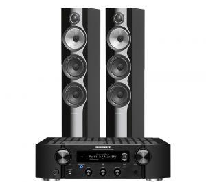 Marantz PM7000N Integrated Stereo Amplifier with Bowers & Wilkins 704 S2 Floorstanding Speakers