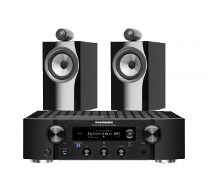 Marantz PM7000N Integrated Stereo Amplifier with Bowers & Wilkins 705 S2 Standmount Speakers