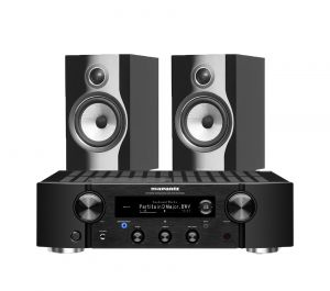 Marantz PM7000N Integrated Stereo Amplifier with Bowers & Wilkins 706 S2 Standmount Speakers