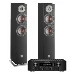 Marantz PM7000N Integrated Stereo Amplifier with Dali Oberon 5 Floorstanding Speakers